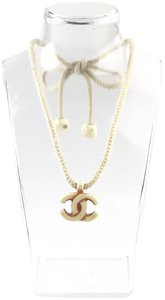 Chanel Chanel Resin CC Logo Rope Necklace