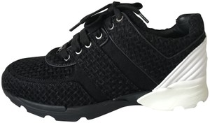 Chanel Sneakers Kicks Tweed Leather Black/White Athletic