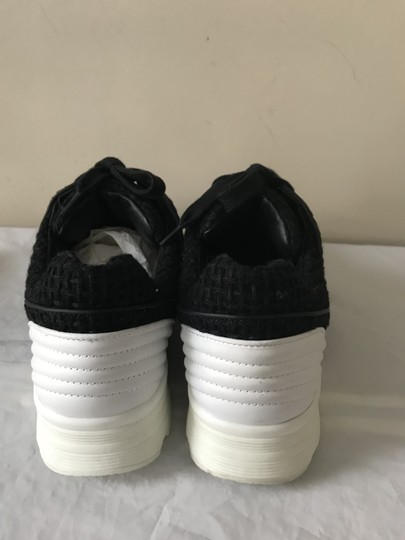 Chanel Sneakers Kicks Tweed Leather Black/White Athletic Image 1
