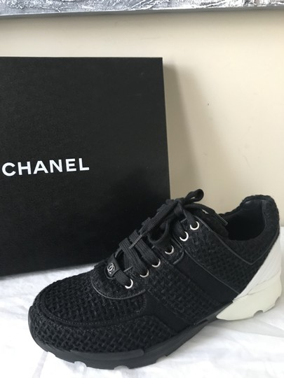 Chanel Sneakers Kicks Tweed Leather Black/White Athletic Image 11