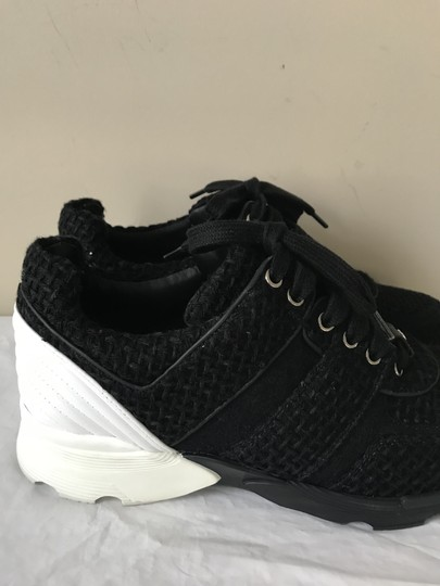 Chanel Sneakers Kicks Tweed Leather Black/White Athletic Image 5