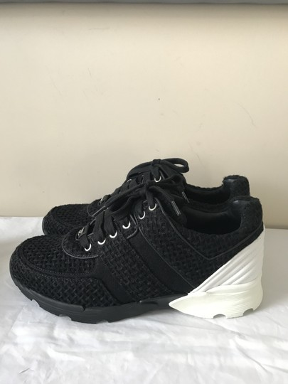 Chanel Sneakers Kicks Tweed Leather Black/White Athletic Image 6