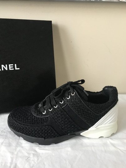 Chanel Sneakers Kicks Tweed Leather Black/White Athletic Image 7