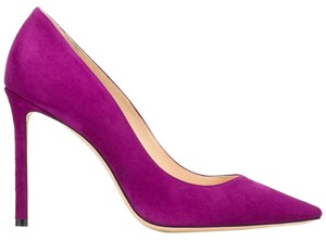 Jimmy Choo Romy Romy 100 Purple Pumps
