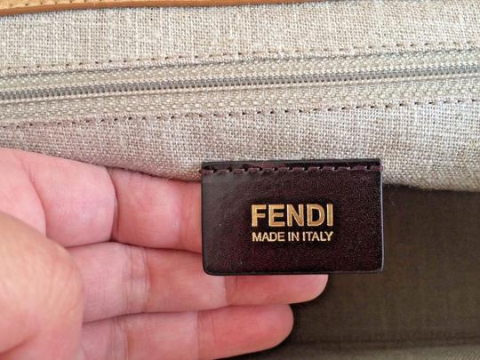 Fendi Colorblock Top Handle Made In Italy Blue Satchel in Green Image 6