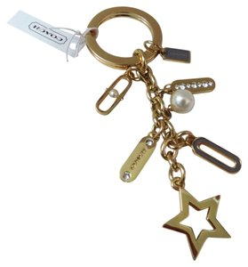Coach Coach Gold Tone KEY RING handbag charm (ship via Priority Mail)