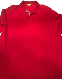 Burberry Men's Long Sleeve Oxford T Shirt Red