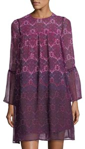 Nanette Lepore short dress Fuschia Kiss Multi Print on Tradesy