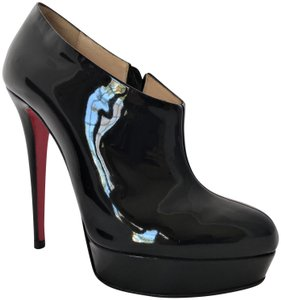 Christian Louboutin Thigh High Platform Black Ankle Boots