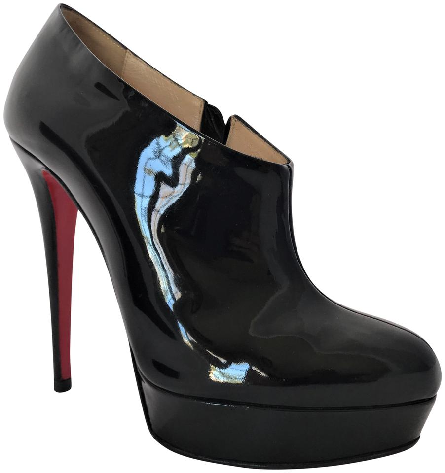 19382639b75 Christian Louboutin Black Ankle Moulage 39it High Heel Lady Red Sole Toe  Pump Patent Platform Boots Booties