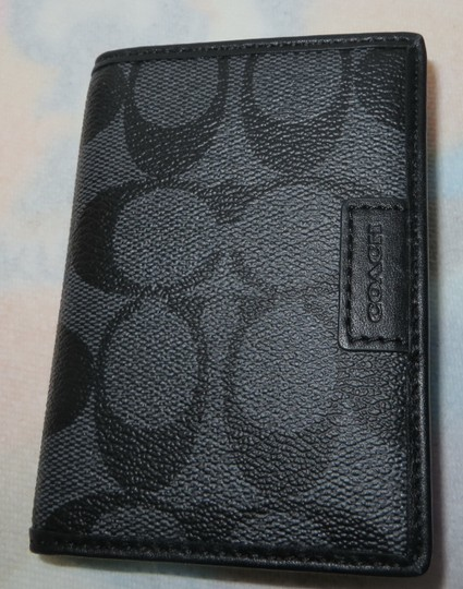 Coach Coach Compact ID Wallet Coach SIGNATURE SLIM PASSCASE ID WALLET(Ship via Priority Mail)
