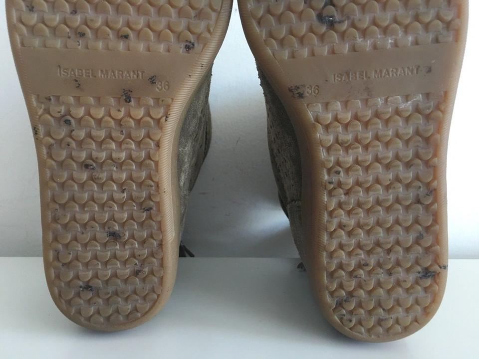 Perforated Suede Booties Leather Boots Isabel Grey Basley Marant qn1wPWAtx6