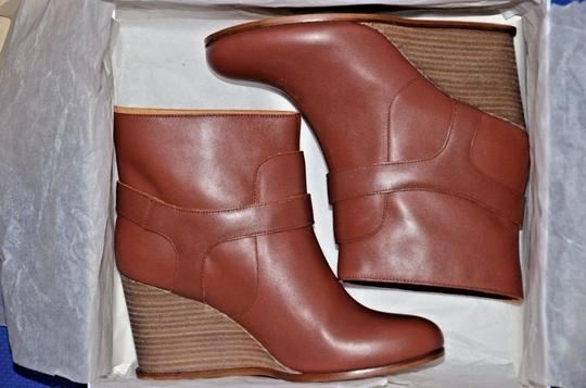 MM6 Maison Martin Margiela Wedge Heel Chic Red Boots Image 2