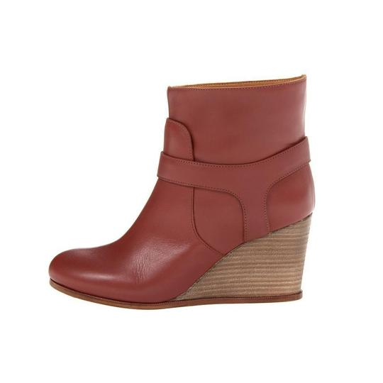 MM6 Maison Martin Margiela Wedge Heel Chic Red Boots Image 4