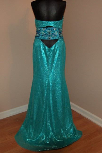 Bari Jay Prom Open Back Strapless Sequin Dress Image 1