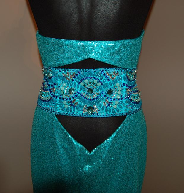 Bari Jay Prom Open Back Strapless Sequin Dress Image 4