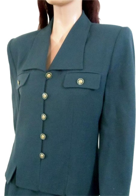 Kasper 2pc Pine Green Military Inspired Style 010344