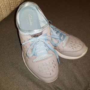 Clarks Light gray and blue Athletic