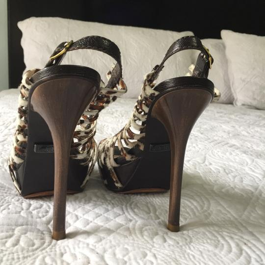 L.A.M.B. Lamb Like New Horsehair Stiletto Leopard Print Pumps Image 2