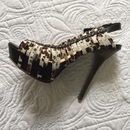 L.A.M.B. Lamb Like New Horsehair Stiletto Leopard Print Pumps Image 4