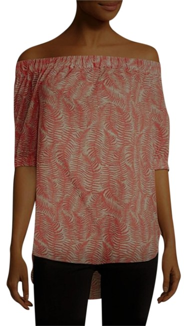 Preload https://img-static.tradesy.com/item/22920209/michael-michael-kors-sangria-and-cream-off-the-shoulder-fern-printed-tunic-size-10-m-0-1-650-650.jpg