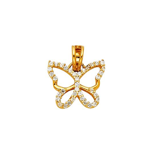 Preload https://img-static.tradesy.com/item/22920224/yellow-14k-butterfly-pendant-charm-0-0-540-540.jpg