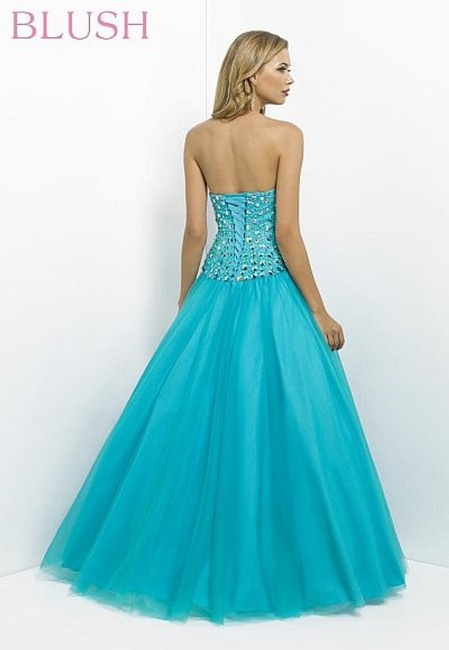 Blush Ball Gown Prom Strapless Sweetheart Dress Image 2
