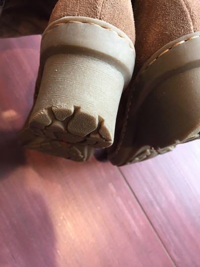 Bare Traps Suede Slouch Wedge Tan Boots Image 5