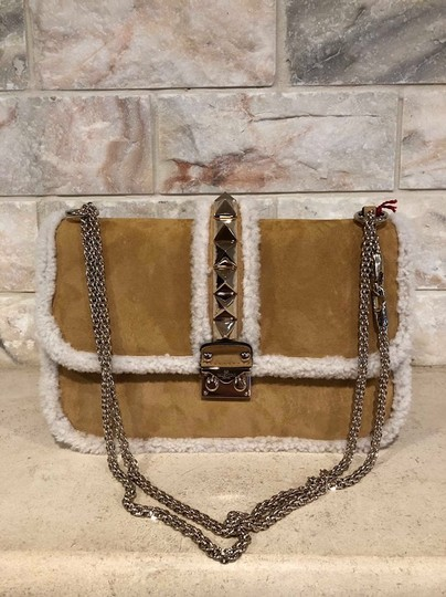 Valentino Rockstud Shearling Fur Studded Shoulder Bag Image 2