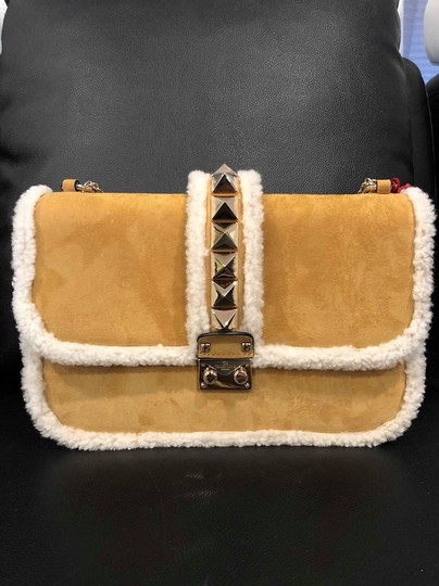 Valentino Rockstud Shearling Fur Studded Shoulder Bag Image 3
