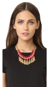 Kate Spade kate spade new york That's a Wrap Tassel Statement Necklace Pink