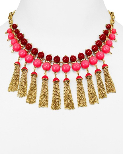Kate Spade kate spade new york That's a Wrap Tassel Statement Necklace Pink Image 1