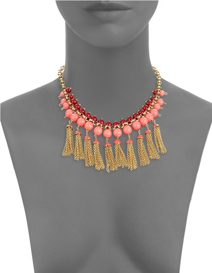 Kate Spade kate spade new york That's a Wrap Tassel Statement Necklace Pink Image 2