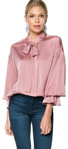 Everly Silkyblouse Valentines Top Pink