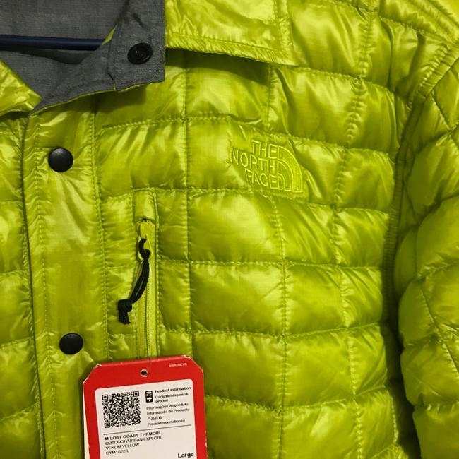 The North Face neon yellow Jacket Image 2