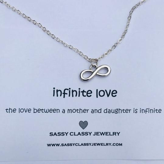 Sassy Classy Jewelry Mothers Day Infinity Necklace Gift for Mom Jewelry Inifinite Love Image 1