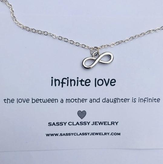 Sassy Classy Jewelry Mothers Day Infinity Necklace Gift for Mom Jewelry Inifinite Love Image 2