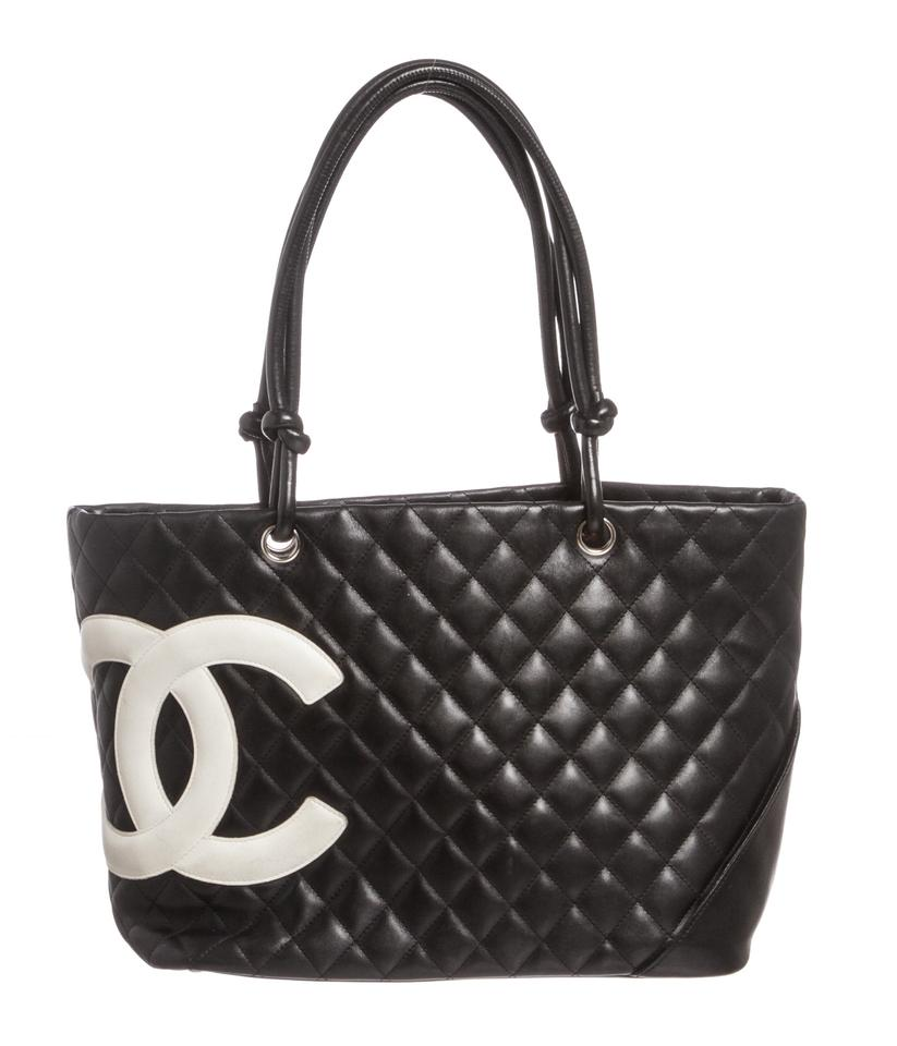 bd756cf40654 Chanel Black Tote With White Cc | Stanford Center for Opportunity ...