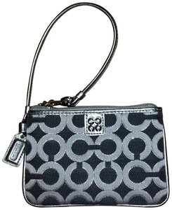 Coach Wristlet in Silver/Gray