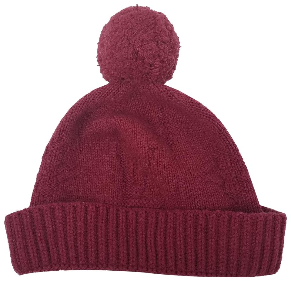f1ee1a581a Louis Vuitton Red Louis Vuitton LV printed cashmere beanie Image 0 ...