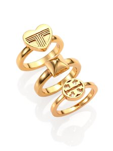 Tory Burch Tory Burch 16K Gold Adeline Stackable Ring Set of 3