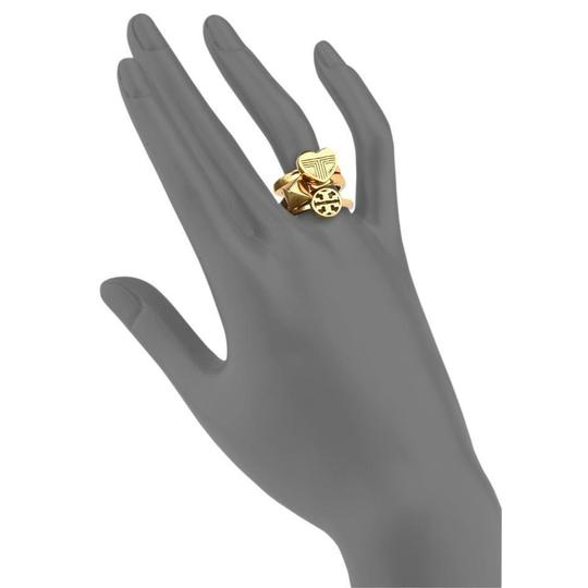 Tory Burch NEW 16K Gold Plated Adeline Stackable Ring Set of 3 Image 2