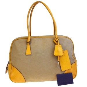 Prada Made In Italy Tote in Beige.Yellow