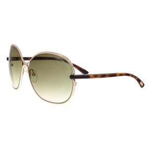Tom Ford Tom Ford Gold/Brown Oval Sunglasses