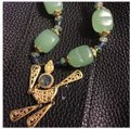 Queenesthershop Artisan Long Length Necklace With Jade Image 1