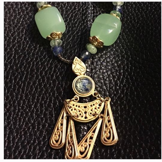 Queenesthershop Artisan Long Length Necklace With Jade Image 2