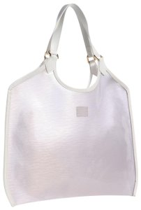 Louis Vuitton Plage Clear Lv Translucent See Through Tote in White