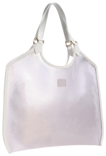 Louis Vuitton Plage Clear Lv Translucent See Through Tote in White Image 0