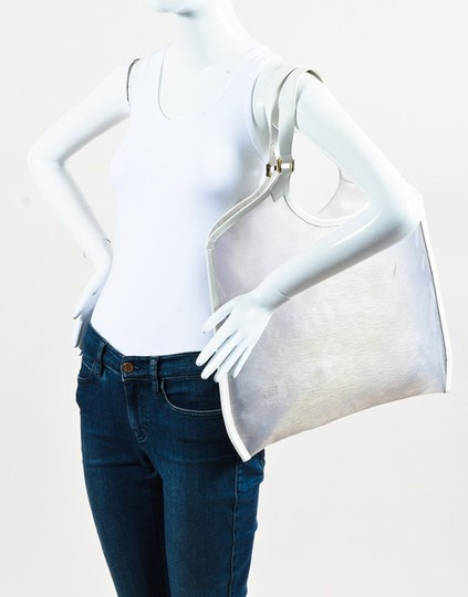 Louis Vuitton Plage Clear Lv Translucent See Through Tote in White Image 1