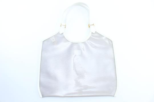 Louis Vuitton Plage Clear Lv Translucent See Through Tote in White Image 2